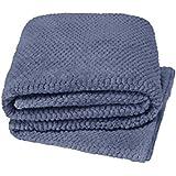 Ideal para cama manta suave y acogedor Teddy, palomitas de maíz, silla o sofá, 100% poliéster/poliéster, Azul, 125x150