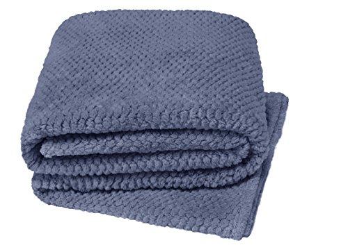 Newsbenessere.com 51as3NnUTmL Coperta in stoffa morbida e accogliente, lavorata in punto popcorn, per letto, poltrona e divano