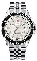 Swiss Military 06-5161.7.04.001.07 - Reloj analógico de cuarzo para hombre con correa de acero inoxidable, color plateado de Swiss Military