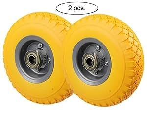 PU Rad 260 mm - Pannensicher, nie wieder Luftpumpen (Gelb, 2 Stück)
