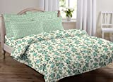 #8: AURAVE Multicolor Floral Design Pattern Reversible Premium Cotton Duvet Cover/Quilt Cover -Single Size