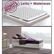 Amazon.it: letto una piazza e mezza con contenitore e materasso