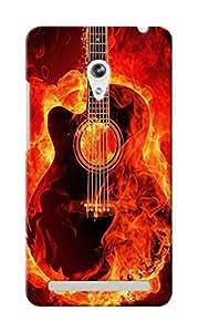 CimaCase Burning Guitar Designer 3D Printed Case Cover For Asus Zenfone 5
