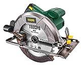 Sierra Circular, TECCPO Profesional 1200W Sierra Circular Eléctrica 5800 RPM, con Hoja de 185 mm 24 Dientes, Profundidad de Corte 63 mm (90°),...