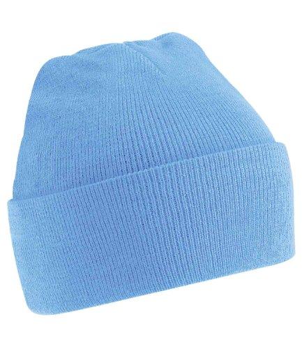 Beechfield Herren Strickmütze Blau hellblau Einheitsgröße
