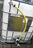 S196W13593YMK34, adattatore valvola di scarico con rubinetto, contenitore IBC, accessorio, accessori acqua piovana, serbatoio, contenitore di montaggio adattatore
