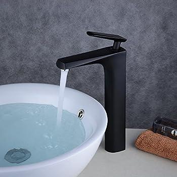 Beelee High with Black Painted Washbasin Mixer Tap Single Lever Basin Mixer Bathroom Tap Bathroom