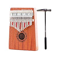 17 Key Kalimba with Mahogany Portable Thumb Piano Mbira Marimba Sanza of Wooden Attached Ore Metal Tines With bag Gift idea