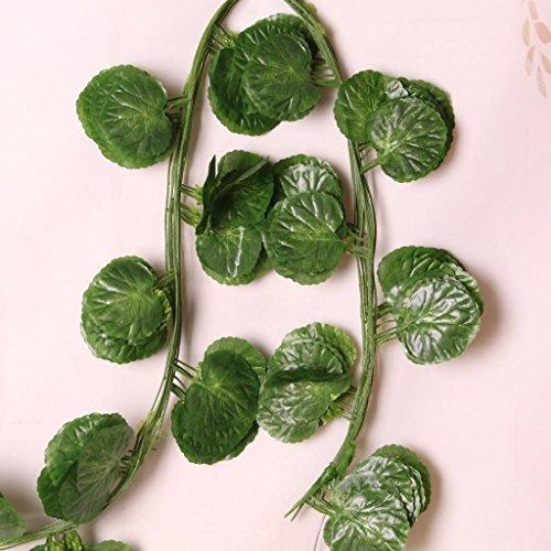 ELECTROPRIMEÃ?â??® Artificial Vine Leaves Fake Ivy Leaves Vine Hanging Begonia Leaf Decorative
