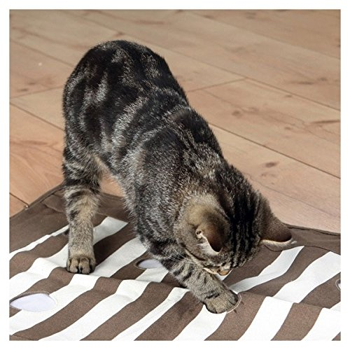 Trixie 46005 Cat Activity Pföteldecke, 70 × 50 cm, braun/Creme