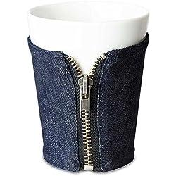 Taza de café sin asa en jeans Traje Taza de té Trendy Vaso Taza de café 9x 12cm