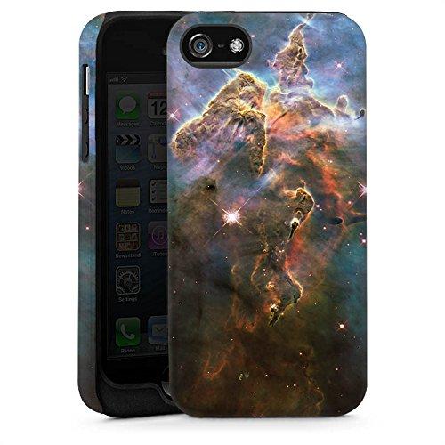 Apple iPhone 4 Housse Étui Silicone Coque Protection Montagne mystique Galaxie Espace Cas Tough brillant
