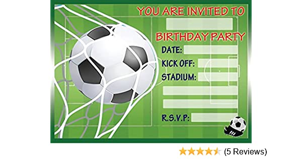 Football Childrens Birthday Party Invites Invitations X 20 Pack