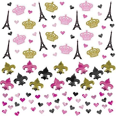 Confettery - Party Dekoration Tisch-Konfetti - kultiger Paris-Look - 1 Stück, 34g, Mehrfarbig