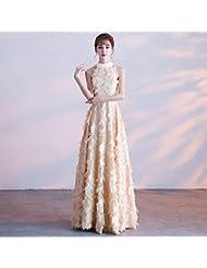 cf2b3e59ab SLR Vestido de Dama de Honor Noble Elegante Largo y Delgado anfitrión Banquete  Banquete Damas Colgando