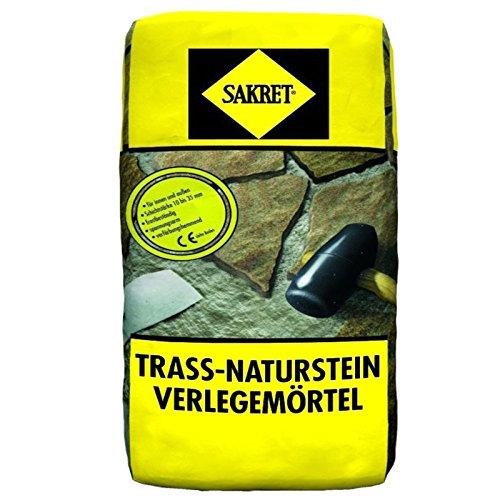 25Kg Trass-Naturstein-Verlegemörtel TNV (0,59 Euro/Kg) Trassmörtel für Natursteine außen + innen SAKRET