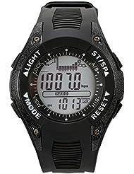 SUNROAD Reloj deportivo FR702A de pesca 3 ATM impermeable cronómetro al aire libre con altímetro, barómetro, pronóstico del tiempo para hombres y mujeres