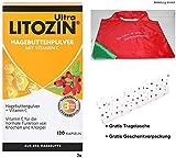 2x120Kps. Ultra LITOZIN mit Hagebuttenpulver + Vitamin C +Gratis Shopper Tragetasche +Gratis Geschenkverpackung. Trägt zur normalen Funktion von Knochen und Knorpeln bei.