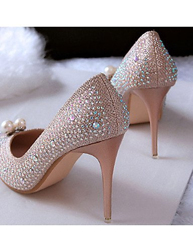 WSS 2016 Chaussures Femme-Décontracté-Noir / Blanc / Argent-Talon Aiguille-Talons-Talons-Laine synthétique black-us6.5-7 / eu37 / uk4.5-5 / cn37
