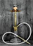 Aton Deluxe Vol. Hookah - Set Narghilè in Acciaio Inox 2.0, per 1 o 4 Persone, Accessori Inclusi + 1 kg di Carbone di Cocco + Pellicola per Narghilè