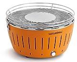 LotusGrill (Mandarinenorange) der raucharme Holzkohlegrill/Tischgrill in verschiedenen fröhlichen Farben. Garantiert immer die neueste Technik inkl. Magic Cover Ø 24 cm!