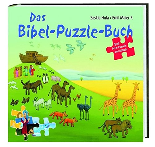 Das Bibel-Puzzle-Buch: Mit vier 24teiligen Puzzeln zu vier biblischen Geschichten und vielen Rätseln