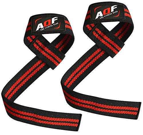 AQF-Weight-Lifting-Gym-Straps-Crossfit-Training-Hand-Bar-Wrist-Support-Gloves-Wrap-Multi-Colour-Black-Red