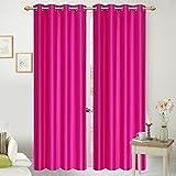 ShopGalore 6 Piece Polyester Door Curtai...