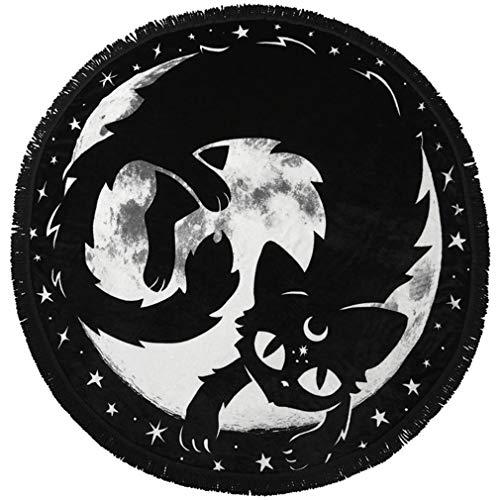 Killstar runde Fleecedecke - Moon Kitty