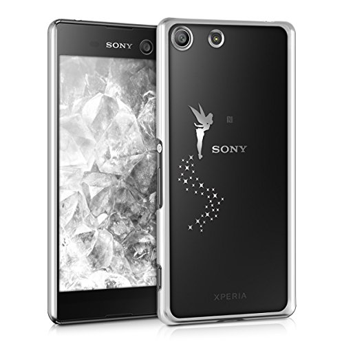 kwmobile Sony Xperia M5 Hülle - Handyhülle für Sony Xperia M5 - Handy Case in Fee Design Silber Transparent