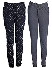 VIMAL Women's Cotton Blended Track Pants - Pack of 2