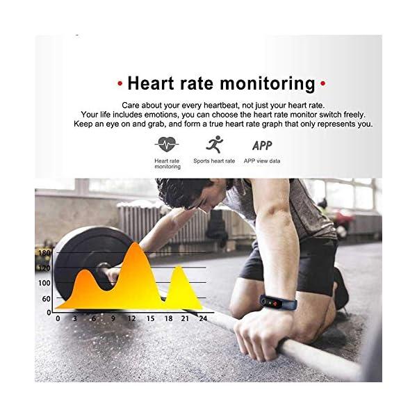 Pulsera inteligente/rastreador de fitness, pantalla de color HD IP68 impermeable M3 Plus pulsera de seguimiento de… 6