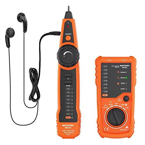 Kabel Tester, Meterk Line Finder RJ11 RJ45 Handheld Tracker Multifunktionskabel Check Wire Messgerät für Netzwerk Wartung Collation, Telefonleitungstest, Kontinuitätsprüfung
