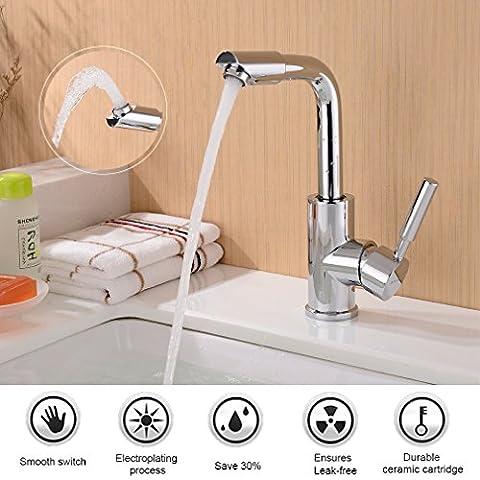 BONADE 360° Hoher Auslauf Waschtischarmatur Bad Wasserhahn Küchenarmatur Einhandmischer Mischbatterie für Badezimmer Waschbecken