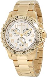 Invicta Mens Gold Stainless Steel Analogue Watch - 11369