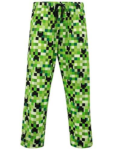 Kostüm Creepers - Minecraft Herren Kriecher Schlafanzughose X-Small