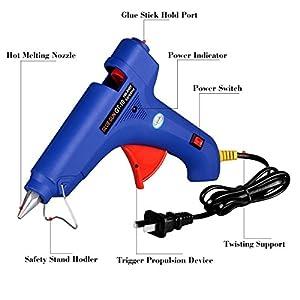 GLUN Hot Melt Glue Gun with-free 3 Glue Sticks (40 Watt)
