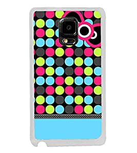 Fuson Color Dots Girl Designer Back Case Cover for Samsung Galaxy Note Edge :: Samsung Galaxy Note Edge N915Fy N915A N915T N915K/N915L/N915S N915G N915D (Ethnic Pattern Patterns Floral Decorative Abstact Love Lovely Beauty)