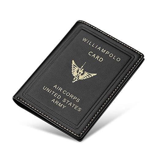 MQBYL Herren Kurze Geldbörsen Brieftasche Echtes Leder Kleine Mini Ultradünne Männer Compact Brieftasche Handmade Card Holder Short Design Geldbörse -