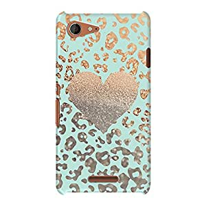 DailyObjects Gold Heart Leo Mint Mobile Case For Sony Xperia E3