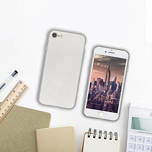 iPhone 7 Coque de Protection, Wouier® Ultra Slim Léger Durable Case Anti-Rayures Premium Fini Mat Très Mince Entouré Coque pour iPhone 7 silver