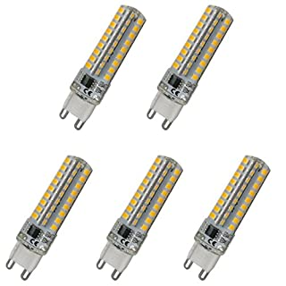 Aoxdi 5x G9 6W Dimmable LED Lamp, Warm White, 72SMD 2835 Dimmable G9 LED Light Bulb Spotlights, G9 Dimmable led, AC220-240V