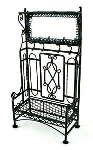 Mobili in miniatura per case delle bambole nero ferro for Panchina ferro battuto amazon
