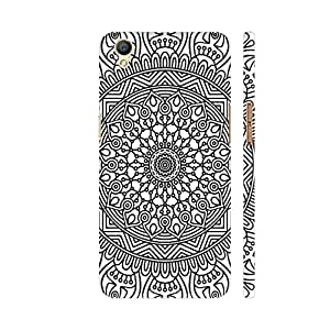 Colorpur Oppo A37 Cover - Ornamental Design On White 3 Printed Back Case