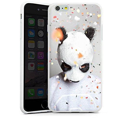 Apple iPhone 4 Silikon Hülle Case Schutzhülle Cro Merchandise Fanartikel Panda Banda Silikon Case weiß