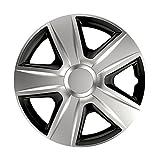 14 Zoll Bicolor Radzierblenden ESPRIT DC (Silber/Schwarz mit Chromring). Radkappen passend für fast alle OPEL wie z.B. Corsa C