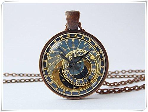 Steampunk-Uhr-Halskette-Science-Fiction-Fantastische-Halskette