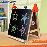Magicwand® Discovery Kids Deluxe 3-in-1 Wooden Tabletop Easel with Black & White Board