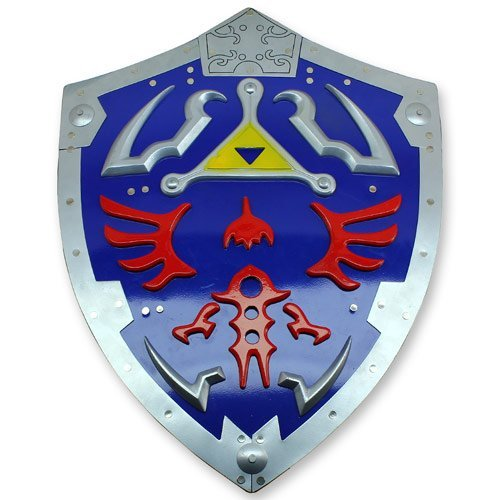 (Zelda Triforce Metall Shield Link Hylian Video Game Erwachen Time of Legend)
