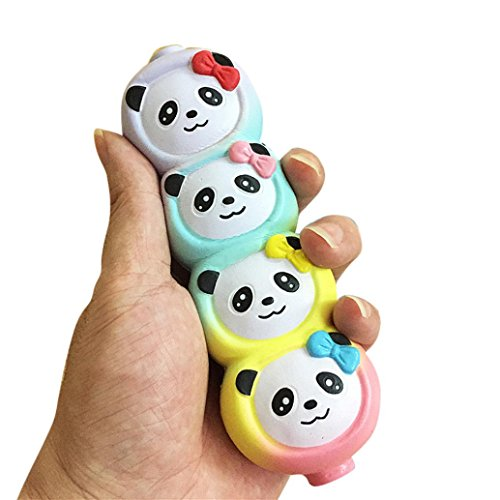Koly squeeze jumbo stress stretch morbido quattro panda sveglio profumato slow rising toys gift